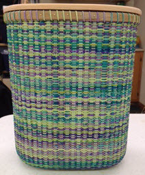 Fiesta Space Dyed Cane Basket